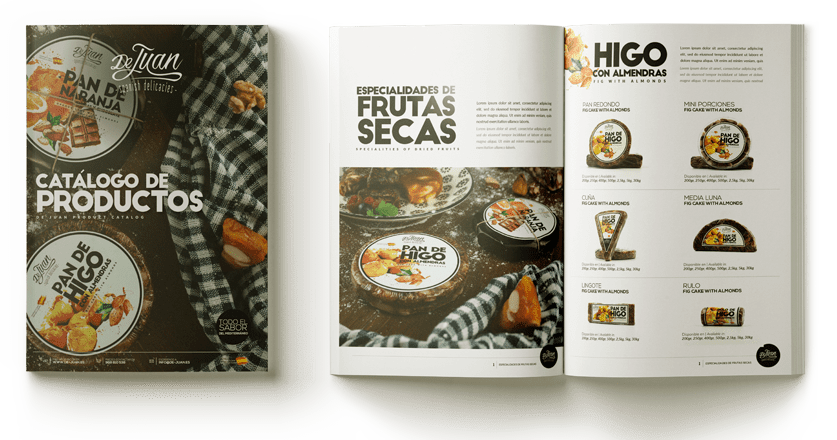 catalog of nuts and fig cake