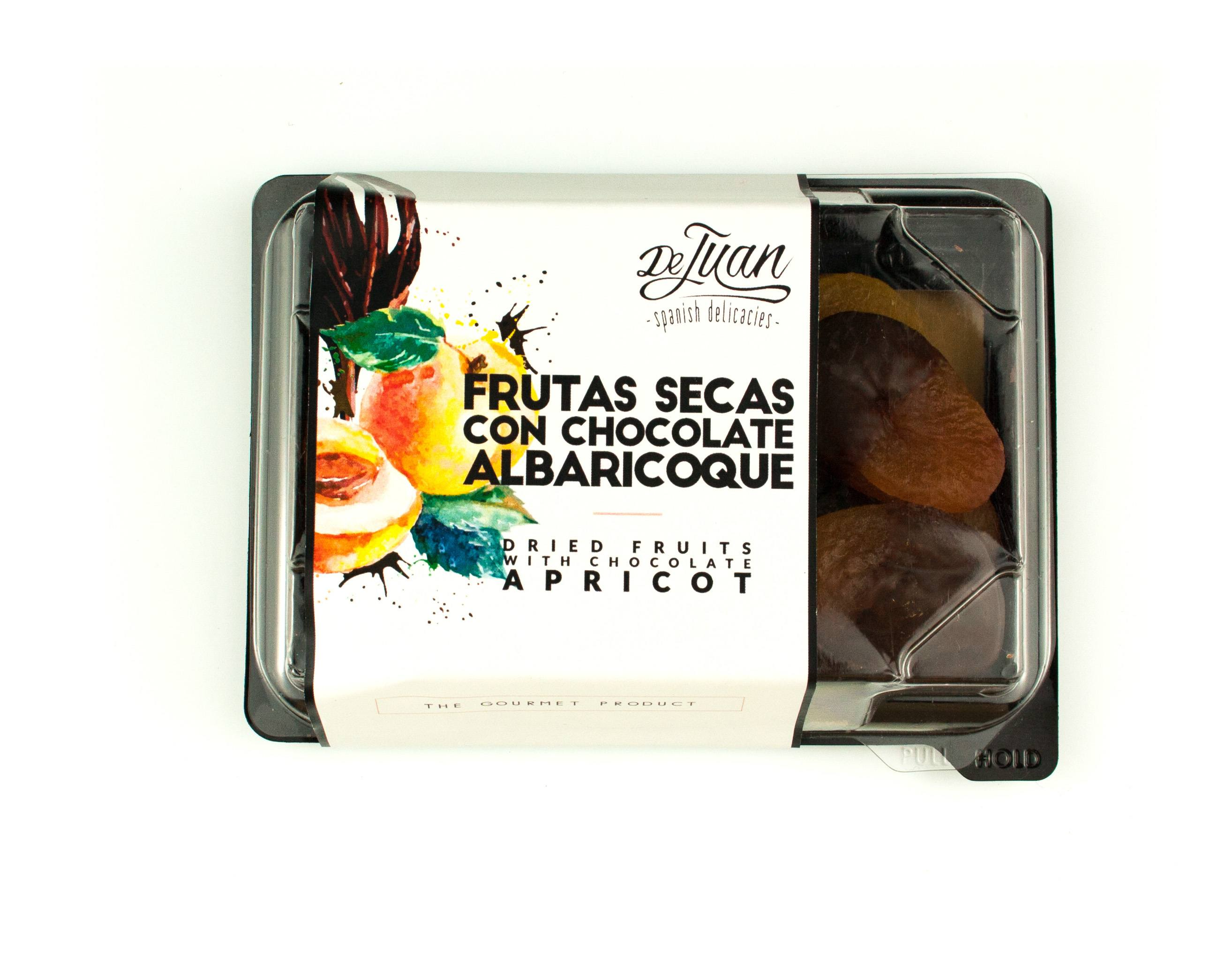 Frutas con Chocolate y Albaricoque