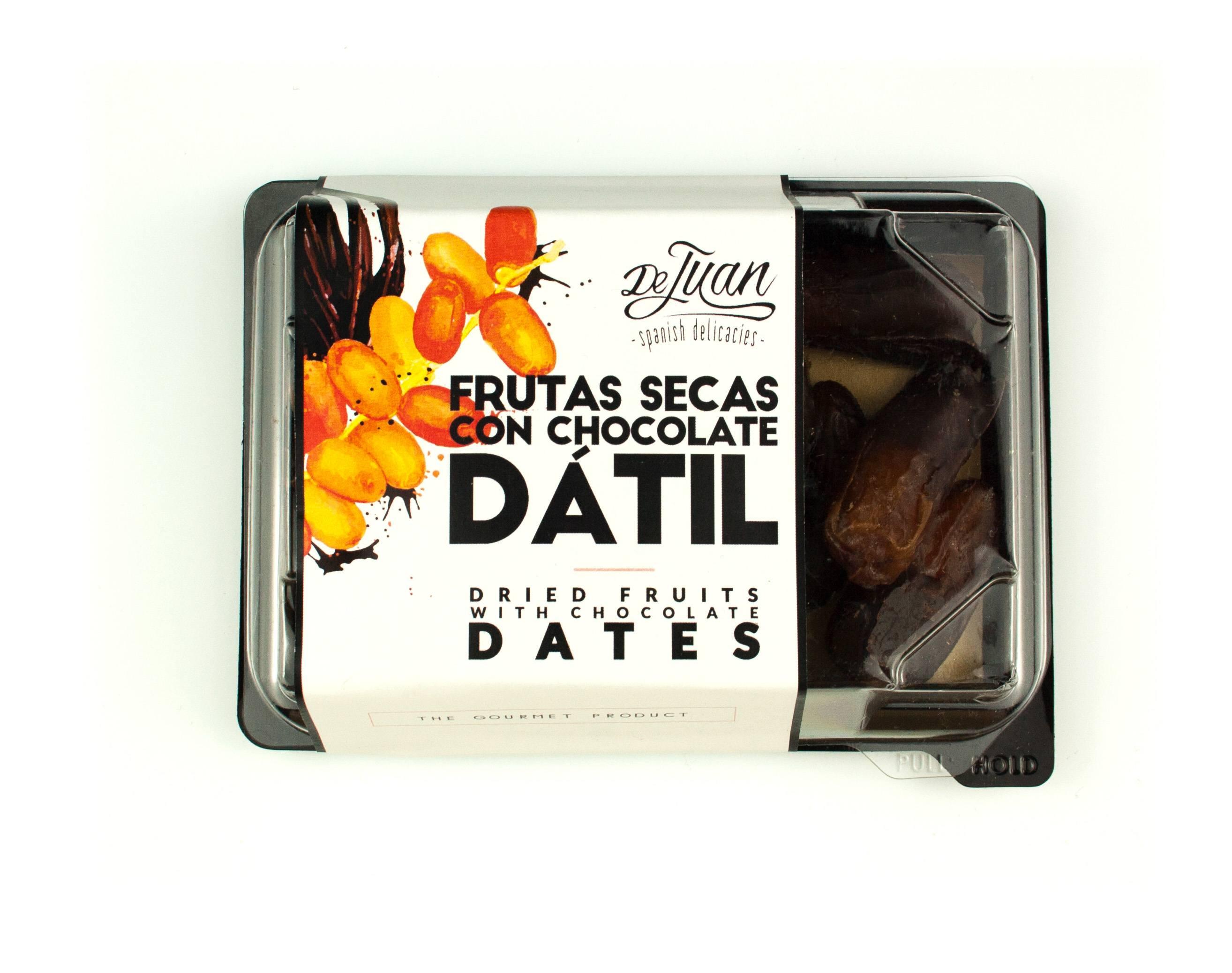 Frutas con Chocolate Dátil