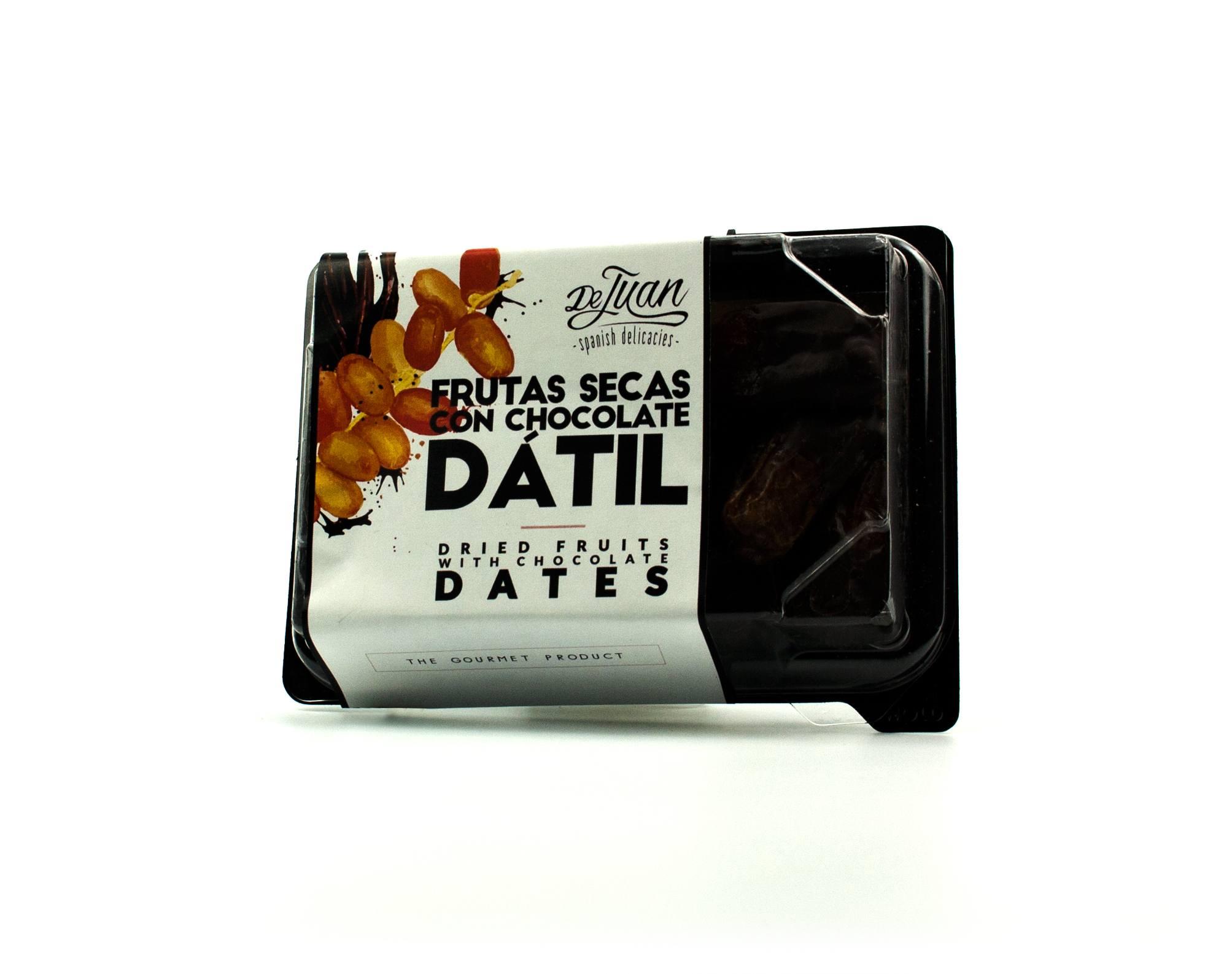 Frutas con Chocolate y Dátil