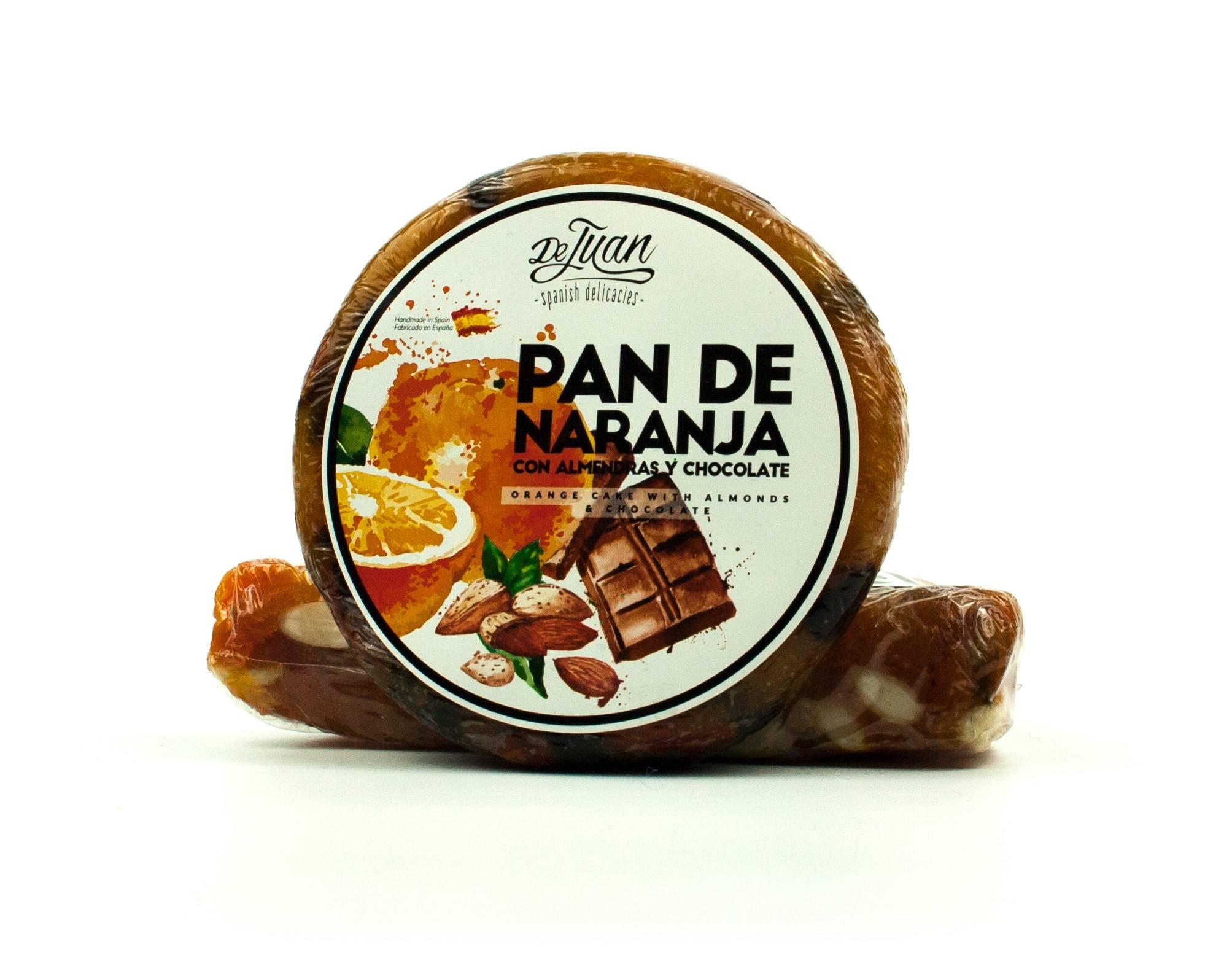 Pan de Naranja con Almendras y Chocolate